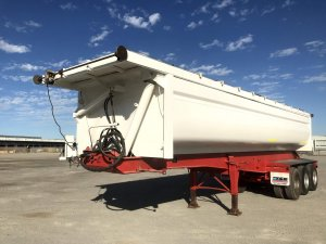 super duty tri axle side tipping trailer